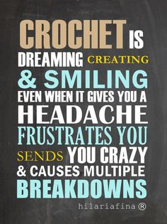 Why do you Crochet?
