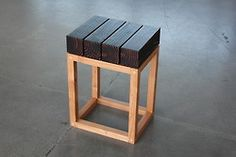 Borden Partnership wood stool,  #furniture, #gail peter borden, #stool