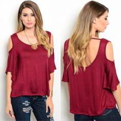 P.S. I Love You More Boutique | Wine Peek Back Top |-- Spring Summer Fall Winter Fashion. www.psiloveyoumoreboutique.com
