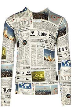 LOVE MOSCHINO Love Moschino Men'S Crew Neck Neckline Jumper Sweater Pullover Grey. #lovemoschino #cloth #
