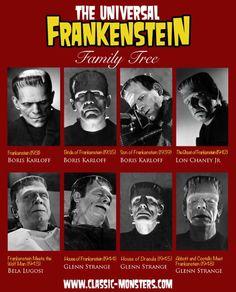 Frankenstein Classic Monster Movies, Classic Horror Movies, Classic Monsters, Horror Monsters, Scary Monsters, Famous Monsters, Horror Icons, Horror Art, Frankenstein's Monster
