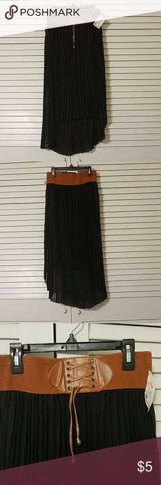 NWT black hi low skirt Brand new, never worn, purchased at Ross Mint Green Skirts High Low