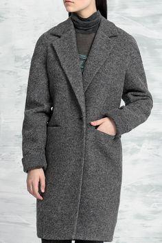 Colors Of Papaya шерстяное пальто 2017. Весна. Серый цвет.   #пальто #2017 #весна #модные #colorsofpapaya #женское #выкройка #мода #тенденции #зима #дизайнерская #одежда