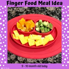 Babies Eating at 10 Months - Lessons By The Lake 10 Months Baby Food, 10 Month Old Baby Food, Toddler Meals, Baby Meals, Healthy Baby Food, Food Baby, Baby Meal Plan, Baby Finger Foods, Baby Foods
