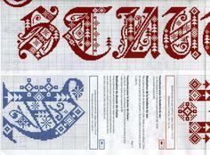 cross stitch gothic - scandinavian - christmas alphabet in 4 parts #3