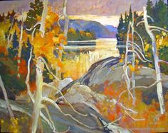 algonquin mosaic brian atyeo find out more from masterpiece online . Canadian Painters, Canadian Art, Landscape Paintings, Oil Paintings, Landscapes, Prince Edward Island, Newfoundland, Architecture Art, Past
