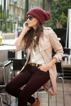 Fall Outfit Gorgeous Pants & Long Coat, visit us for more details.