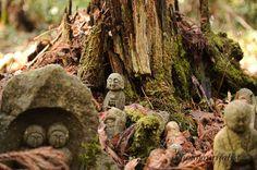 Nashinoki jizo shrine, Sado island, Niigata pref, Japan, April 5, 2009.