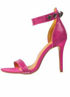 Dree Snakeskin Sandals Fuchsia at Prima donna