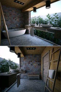 Axon bathroom by Fly design studio (via Creattica)