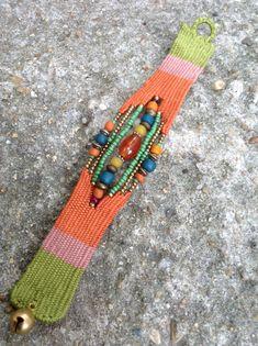 Needle weaving braclets neckles Pin Weaving, Inkle Weaving, Tapestry Weaving, Fiber Art Jewelry, Textile Jewelry, Fabric Jewelry, Tatting Jewelry, Beaded Jewelry, Handmade Jewelry