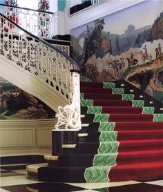 Grand Staircase, Greenbriar Resort - Dorothy Draper & Co.