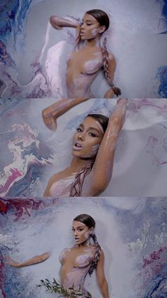 Ariana Grande / God is a woman ♡ Angel Drawing, Woman Drawing, Halloween Inspo, Halloween Makeup, Ariana Grande Makeup, Queen Of Everything, More Wallpaper, Dangerous Woman, Famous Celebrities