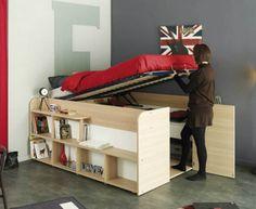 cama com armário embaixo 1