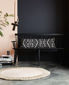 A luxe, bold cushion perfect for adding interest to the home. Our generous & long Bomba cushion is defined by a monochrome, aztec design for a modern boho look!