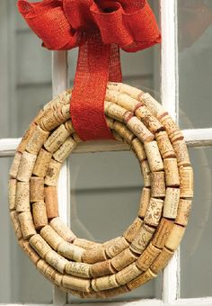 How to with wine corks. Projects such as bird houses & this wreath from Birds & Blooms