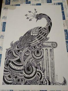 Black Pen Drawing, Doodle Art Drawing, Dark Art Drawings, Zentangle Drawings, Zentangle Patterns, Drawing Tips, Pencil Drawings, Hipster Drawings, Doodles Zentangles