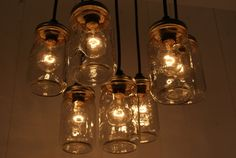 with vintage light bulbs