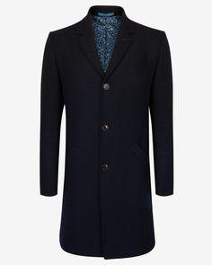 Wool ombré overcoat - Navy | Jackets & Coats | Ted Baker UK