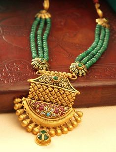 Gold Jewelry In Nepal Gold Temple Jewellery, Gold Jewellery Design, Bead Jewellery, India Jewelry, Gold Jewelry, Beaded Jewelry, Jewelry Necklaces, Ruby Jewelry, Gold Mangalsutra Designs