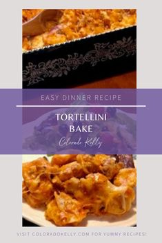 This Tortellini Bake is an easy dinner recipe that the entire family will enjoy! In less than 45 minutes you can have a hot and hearty dish on the table! Pasta Dinner Recipes, Yummy Pasta Recipes, Spaghetti Squash Recipes, New Recipes, Cooking Recipes, Yummy Food, Favorite Recipes, Recipies, Beef Bourguignon Slow Cooker