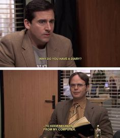 Dwight Schrute and Michael Scott   #TheOffice