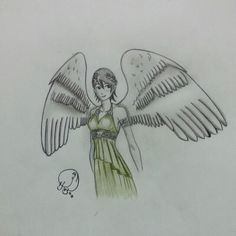 A copy drawing from..how to draw wings..for Mark crilly