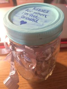 Kisses | Valentines Day Mason Jar Gifts for Men Mason Jars, Mason Jar, Glass Jars, Jars