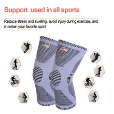 c67af9903b Knitted Knee Support · * Select natural quality bamboo fiber, high  absorption capacity, without bad smell, sweat