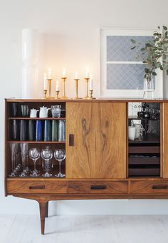 Vintage cabinet for storing your precious dinnerware