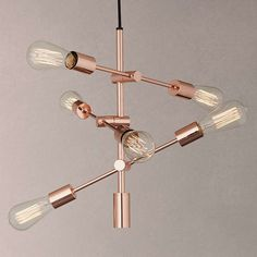 BuyHouse by John Lewis Elias Retro Pendant Ceiling Light, Copper Online at johnlewis.com