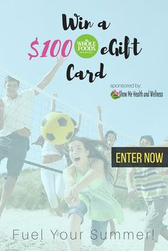 Enter to win an eGift Card from Whole Foods worth $100 - Gain more chances to win with social sharing too!