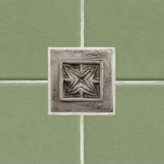 """2"""" Aluminum Wall Tile with Passion Flower Design"""