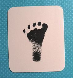 GREAT GIFT IDEA for new parents... here you can get a custom stamp of a baby's footprint or handprint!  A great memory to treasure, and could be used on birth announcements, and baby shower thank you's :)