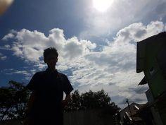 Shadow of sun