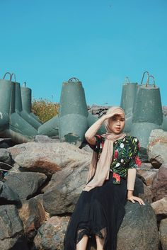 #anyer #beach #ootd #hijab #simple #outfit