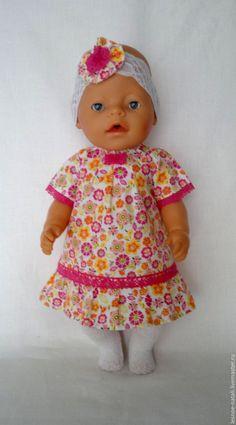 Купить Платье для куклы - фуксия, платье для беби бон, одежда для беби бона