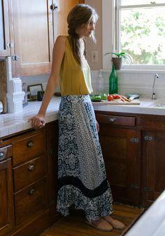 Aegina Printed Maxi Skirt   Modern Vintage New Arrivals   Ruche   Ruche