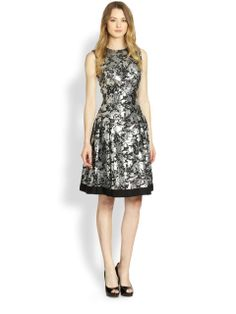 Love the Brocade Fit-And-Flare Party Dress on Wantering | tis the season holiday fashion | style | womens party dress | fashion | wantering http://www.wantering.com/womens-clothing-item/brocade-fit-and-flare-party-dress/agepW/