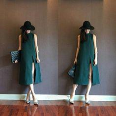 Korea Maxi Dress Green  B86 L114  CONTACT Line: debolz WA: 082231681948 BBM: 5783F838