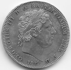 1819 King George III Silver Crown Coin SILVER AND GOLD COINS FOR SALE IN LONDON 1STSOVEREIGN.CO.UK