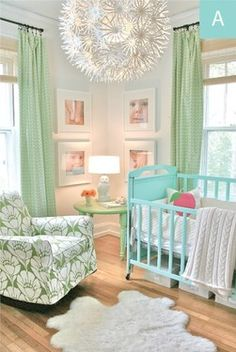 Such a sweet and stylish nursery. By Trenna Travis Design Studio, via Project Nursery Baby Room Decor, Nursery Room, Kids Bedroom, Nursery Decor, Nursery Ideas, Baby Rooms, Nursery Design, Chic Nursery, Baby Bedroom