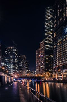 Chicago Riverwalk by Andres Marin on New York Life, Nyc Life, Night Aesthetic, City Aesthetic, Foto Glamour, Chicago Riverwalk, City Wallpaper, Chicago Wallpaper, City Vibe