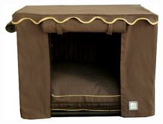 Teak Brown Dog Crate Cover *** New and awesome dog product awaits you, Read it now : Crates, Houses and Pens for dogs Crate Bed, Diy Dog Crate, Soft Dog Crates, Dog Crate Cover, Brown Dog, Dog Design, Design Ideas, Slipcovers, Teak