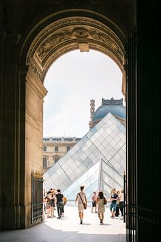 Walking into the Louvre