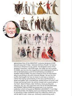 Anthony Powell, Glenn Close, 101 Dalmatians, Costumes, Design, Dress Up Clothes, Fancy Dress, Men's Costumes