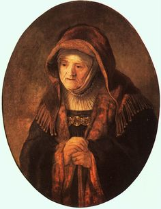Rembrandt Harmenszoon van Rijn Portrait of artist's mother 1639