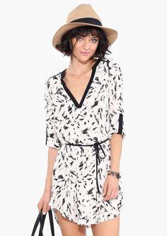 Awesome Fashion Summer Dresses Splatter Shirt Dress Check more at http://24shop.gq/fashion/fashion-summer-dresses-splatter-shirt-dress/