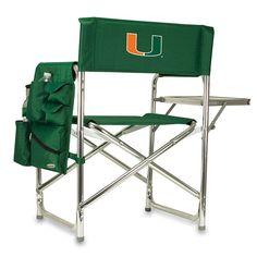 Miami Hurricanes Sports Chair, Green