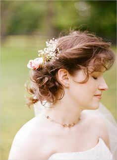 romantic wedding makeup and hair by Christi Smith Makeup & Hair (flowers provided by Trellis Floral Design). Photography by Nathan Westerfield (http://www.nathanwesterfield.com/)